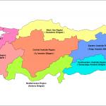 Türkiye Coğrafi Bölgeler Haritası İngilizce