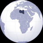 libya haritası dünya