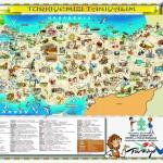 türkiye haritasında tarihi ve turistik yerler